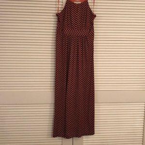 Silky knit maxi dress